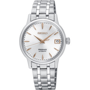 Seiko Presage Cocktail Time Ladies Automatic Stainless-Steel Bracelet Watch SRP855J1