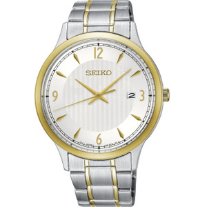 Seiko Classic Men's Silver Dial Stainless-Steel Bracelet Watch SGEH82P1