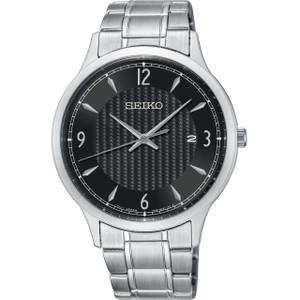 Seiko Classic Men's Black Dial Stainless-Steel Bracelet Watch SGEH81P1