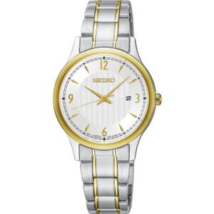 Seiko Classic Women's White Dial Stainless-Steel Bracelet Watch SXDG94P1