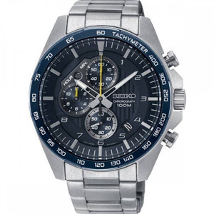 Seiko Motorsport Men's Chronograph Blue Dial Stainless-Steel Bracelet Watch SSB321P1