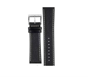 Mondaine Replacement Black Leather Strap 22mm FE19422.20Q1 With Free Pins