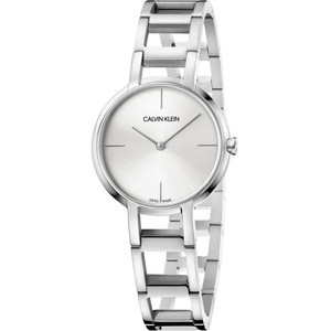 Calvin Klein Women's Cheers Silver Dial Stainless-Steel Bracelet Watch K8N23146