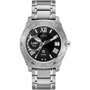 Guess Unisex Connect Touch Stainless-Steel Bracelet Smart Watch C1001G4