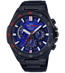 Casio Edifice Men's Scuderia Toro Rosso Blue Dial Stainless-Steel Bracelet Watch EFR-563TR-2AER