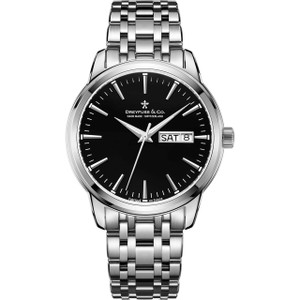 Dreyfuss & Co Men's 1890 Black Dial Stainless-Steel Bracelet Watch DGB00125/04