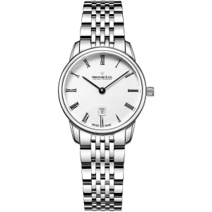 Dreyfuss & Co Women's 1980 White Dial Stainless-Steel Bracelet Watch DLB00146/01
