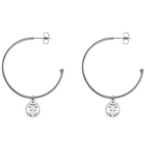 Tommy Hilfiger Casual Core Women's Silver Stainless-Steel Hoop Earrings 2780023