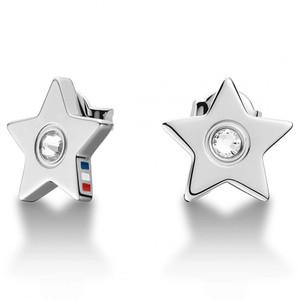 Tommy Hilfiger Women's Star Stone Set Silver Stud Earrings 2700842