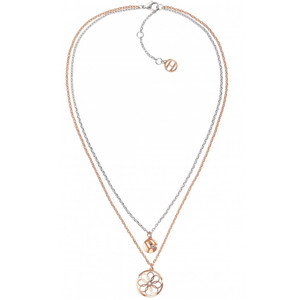 Tommy Hilfiger Women's Double Layer Coin Charm Necklace 2780069