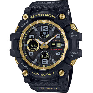 G-shock Mudmaster Tough Solar Radio Controlled Black And Gold Watch GWG-100GB-1AER