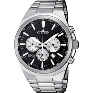 Citizen Quartz Men's Chronograph Black Dial Watch AN8170-59E