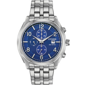 Citizen Eco-Drive Men's Chronograph Blue Dial Watch CA0670-51L