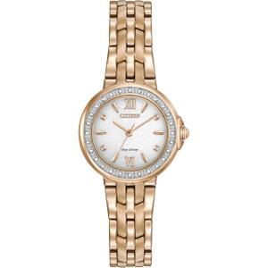 Citizen Eco-Drive Women's 28 Diamonds White Dial Watch EM0443-59A