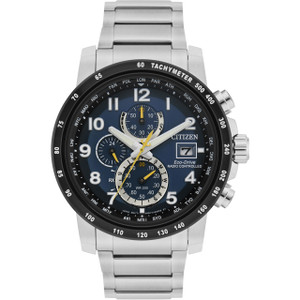 Citizen Eco-Drive Men's Radio Controlled Chronograph Blue Dial Watch AT8124-91L