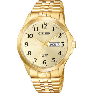 Citizen Quartz Men's Day Date Champagne Dial Watch BF5002-99P