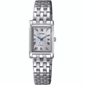 Citizen Quartz Women's White Dial Silver Bracelet Watch EJ6120-54A