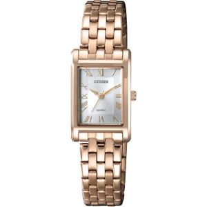 Citizen Quartz Women's Silver Dial Rose Gold Bracelet Watch EJ6123-56A
