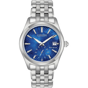 Citizen Eco-Drive Women's Blue Mother Of Pearl Dial Bracelet Watch EV1030-57N