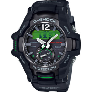 Casio G-Shock Gravity Master Bluetooth Tough Solar Resin Strap Watch GR-B100-1A3ER