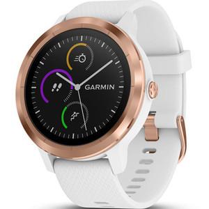 Garmin Vivoactive(3) HR White And Rose Gold 43MM Hybrid Smartwatch 010-01769-05