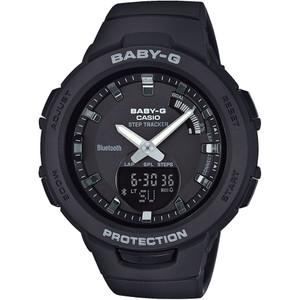 Casio Baby-G Steptracker Bluetooth Black Dial Resin Strap Watch BSA-B100-1AER