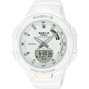 Casio Baby-G Steptracker Bluetooth White Dial Resin Strap Watch BSA-B100-7AER