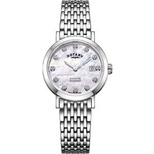 Rotary Women's Windsor Diamond Sapphire Bracelet Watch LB05300/07/D