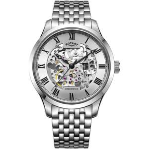 Rotary Men's Greenwich Skeleton Automatic Sapphire Bracelet Watch GB02940/06