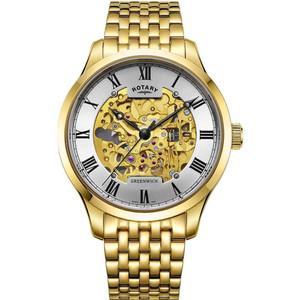 Rotary Men's Greenwich Skeleton Automatic Sapphire Bracelet Watch GB02941/03