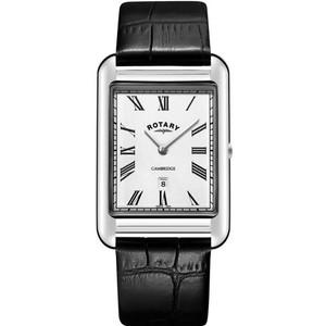 Rotary Men's Cambridge Quartz Sapphire Black Leather Strap Watch GS05280/01