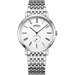 Rotary Men's Windsor Sapphire White Dial Bracelet Watch GB05310/01