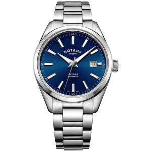 Rotary Men's Havana Automatic Blue Dial Bracelet Watch GB05077/05