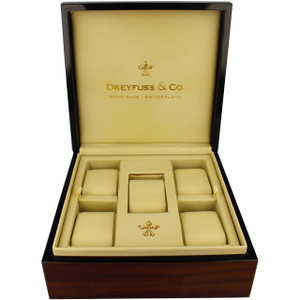 Dreyfuss Wooden Watch Storage Box For 5 Watches