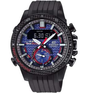 Casio Edifice Men's Scuderia Toro Rosso Solar Chronograph Bluetooth Resin Strap Watch ECB-800TR-2AER
