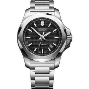 Victorinox Men's Swiss Army I.N.O.X Automatic Sapphire Black Dial Bracelet Watch 241837