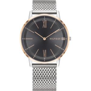 Tommy Hilfiger Men's Cooper Grey Dial Silver Mesh Bracelet Watch 1791512