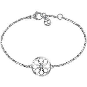Tommy Hilfiger Ladies Casual Core Coin Charm Silver Bracelet 2780046