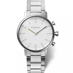 Kronaby Nord Bluetooth Silver Bracelet Hybrid Smartwatch A1000-0710