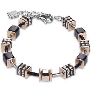 Coeur De Lion Ladies GeoCube Swarovski Crystals Multicolour Bracelet 4928-30-1523