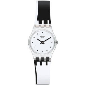 Swatch Original Lady Dot Around The Clock Silicone Strap Watch LK370