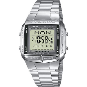 Casio Men's Databank Alarm LED Light Bracelet Watch DB-360N-1AEF