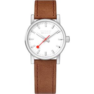 Mondaine Evo2 Ladies Sapphire Brown Leather Strap Swiss Railways Watch MSE.30110.LG