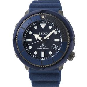 Seiko Prospex Street Series Solar Powered Silicone Strap Navy Diver's Watch SNE533P1