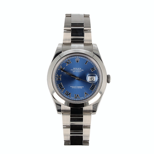 Pre-Owned Rolex Datejust II With Oyster Steel Bracelet And Blue Dial 116300