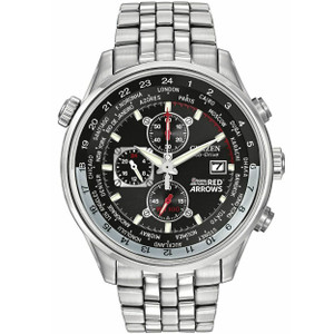 Citizen Red Arrows Men's Black Dial Chronograph Watch CA0080-54E