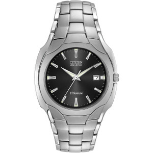 Citizen Titanium Men's Eco-Drive Black Dial Watch BM6560-54H