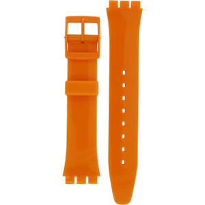 Swatch Watch Strap Classic Orange Fresh Papaya AGO105 17mm