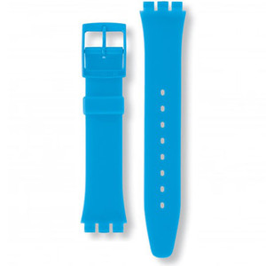 Swatch Watch Strap Classic Light Blue Rise-Up AGS138 17mm with Free Battery