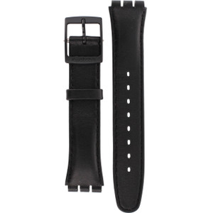 Swatch Watch Strap Leather Black Red Sunday AGB750 17mm